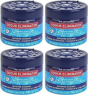 Ozium 804840-Smoke & Odors Eliminator Gel Home, Office Car Air Freshener 4.5oz (127g), Outdoor Essence Scent (Pack of 4)