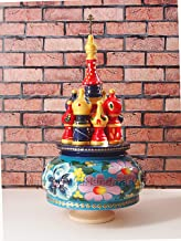 Music box in shape of St Basil's Cathedral playing popular Kalinka tune Christmas gift