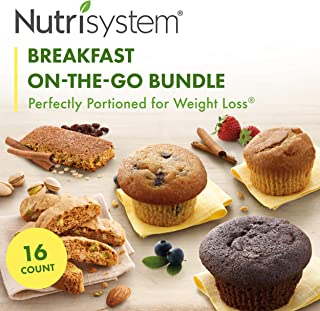 Nutrisystem® On-The-Go Breakfast Bundle, 16 ct, Variety Pack of Breakfast Options for Weight Loss