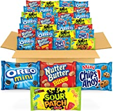 OREO Mini Cookies, CHIPS AHOY! Mini Cookies, SOUR PATCH KIDS Candy & Nutter Butter Bites Cookies & Candy Variety Pack, 32 ...