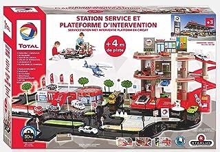 STARLUX – Super Garage Total avec Station-Service Complète 3 Niveaux, Plateforme d'intervention et Circuit de 4 mètres – D...