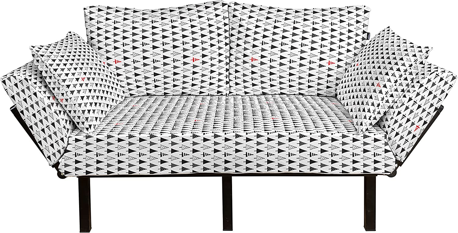 Ambesonne Christmas 35% OFF Futon Couch Sharp Tr Season High quality new Winter Triangle