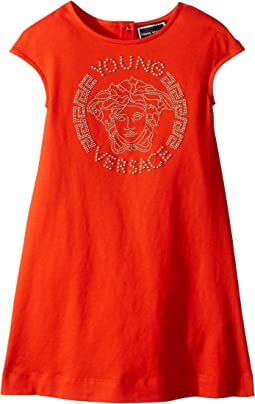 Versace Kids - Cap Sleeve Dress with Medusa Logo (Toddler/Little Kids)