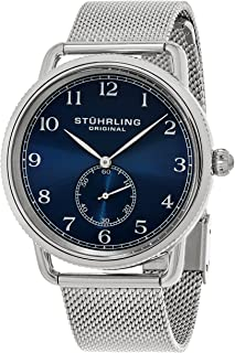 Stuhrling Original Men's 207M.03 Classique Swiss Quartz Stainless Steel Mesh Band Watch