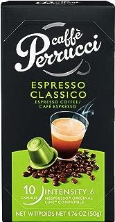 Caffe Perrucci, Nespresso Compatible Capsules, Espresso Classico, 120 Count Case