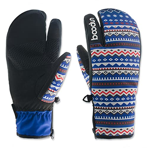 c817c990f1 Babimax Women Men Waterproof Winter Ski Gloves Snowboard Cycling Snowmobile  Climbing Hiking Warm Snow Gloves Full