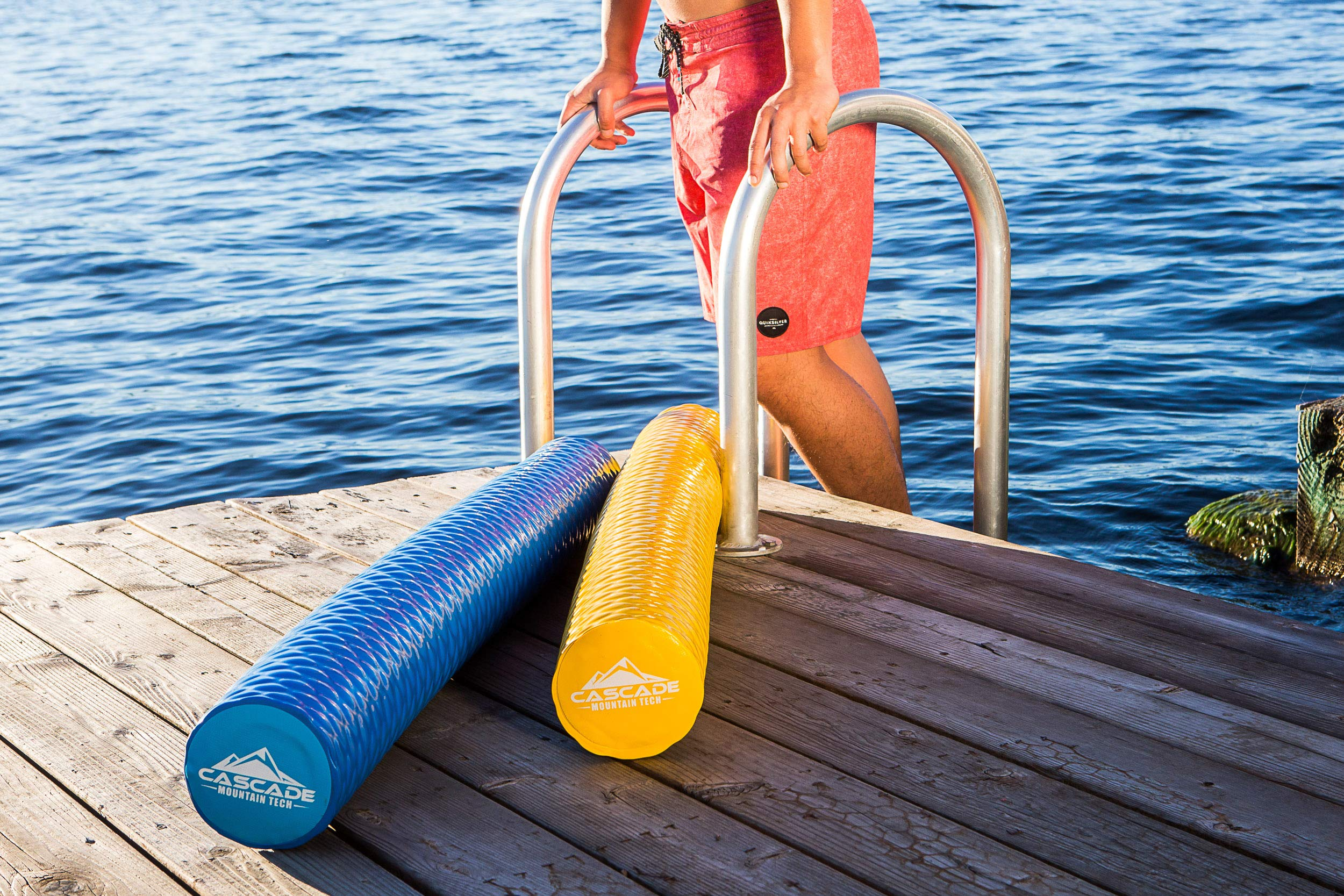 Non Slip Float for Pools Cascade Mountain Tech Foam Water Sport Noodle Lakes Rivers and Beaches Soft Dipped