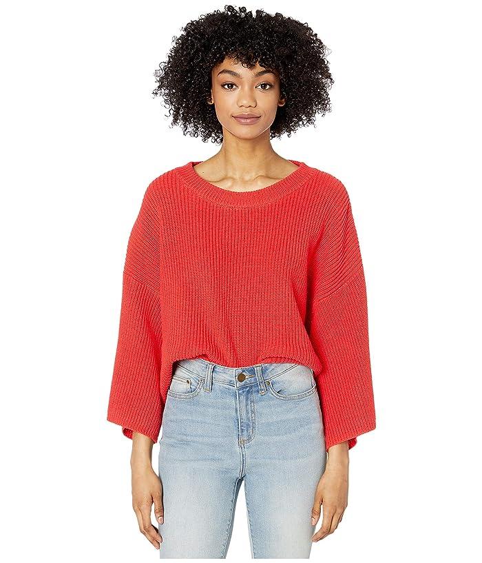 Jack by BB Dakota  Oversized Rib Knit Sweater (Coral) Womens Clothing
