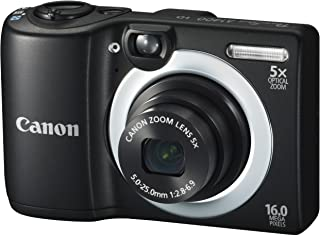 Canon PowerShot A1400 16.0 MP Digital Camera with 5x Digital Image Stabilized Zoom 28mm Wide-Angle Lens and 720p HD Video ...