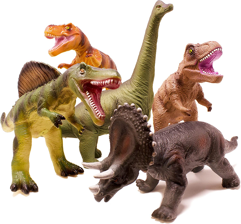 Boley 5 Piece Jumbo Dinosaur Set - Kids, Children, Toddlers Highly Detailed,...