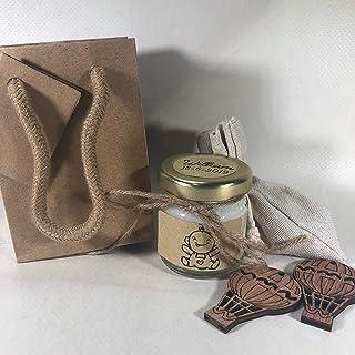 10 o più mini candele sacchetto battesimo o nascita personalizzate con nome e data bomboniera battesimo segnaposto confettata