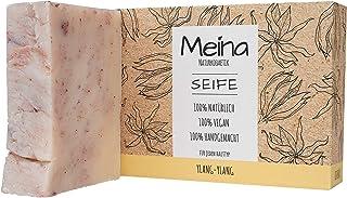 Meina Naturkosmetik - Seife mit Ylang-Ylang 1 x 100 g Palmölfrei, Natürlich, Vegan, Handgemacht, Bio Naturseife - Körperpflege und Gesichtspflege