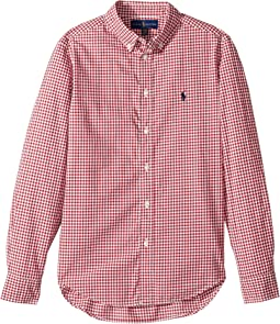 Polo Ralph Lauren Kids - Gingham Cotton Poplin Top (Big Kids)