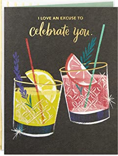 Hallmark Good Mail Birthday Card or Congratulations Card (Cocktails)