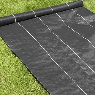 高密度135G 防草シート 1m×100m ブラック (日本製抗菌剤入り/厚手・高耐久4-6年)