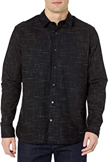 Vince Men's Crosshatch Long Sleeve