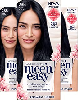 Clairol Nice 'n Easy Permanent Hair Color, 2BB Blue Black, 3 Count