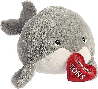 Aurora World Love You Tons Whale Plush, Gray, 12