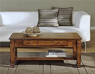 Ameriwood Home Summit Mountain Wood Veneer Coffee Table, Medium Brown