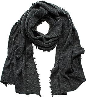 Eagle Products Damen XL Schal/Strickschal/Wollschal/Stola/Strickstola aus 100% Geelong Lammwolle anthrazit
