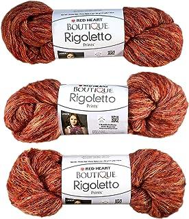 Red Heart Rigoletta Yarn (Pack of (3), Spicy)