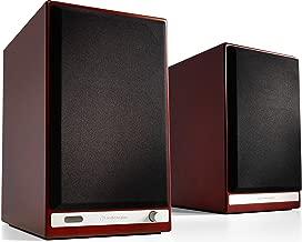 Audioengine HD6 150W Wireless Powered Bookshelf Speakers, Bluetooth aptX HD, USB 24-Bit DAC & Analog Amplifier (Cherry)