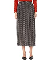 See by Chloe - Micro Print Pleated Maxi Skirt