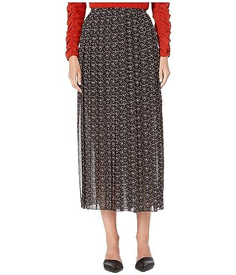 See by Chloe Micro Print Pleated Maxi Skirt