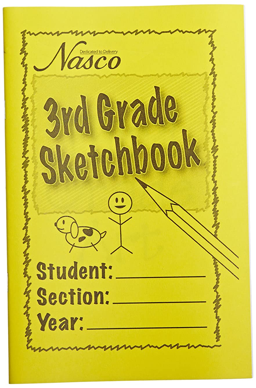 Nasco Art Activity Student 25 Pages Sketchbook, Grades 3 (Pack of 10)