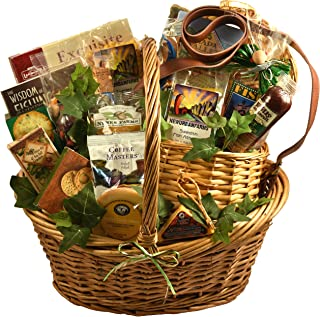 Fishing Gift Basket with Deluxe Fishing Creel - A Gift Basket for the Fishermen in Your Life