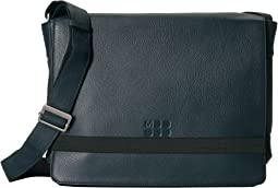 Classic Leather Slim Messenger Bag