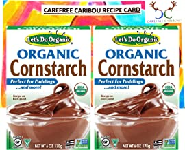 Lets Do Organic Cornstarch Bundle. Includes Two (2) 6oz Packages of Lets Do Organic Cornstarch and a Recipe Card from Care...