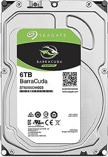 SEAGATE BarraCuda 6TB 存储硬盘 正规代理店 3.5英寸 HDD 内置硬盘 SATA 6Gb/s 64GB 5400rpm 适合台式电脑