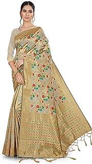 NITYA Women's Banarasi Art Silk Saree With Unstitched Blouse Piece
