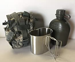 G.A.K 90026 G.I. TYPE, U.S Made 1 QT Canteen With New Stainless Steel Cup & G.I. Military ACU MOLLE II Pouch KIT.