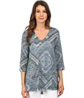 Nally & Millie - Scarf Print V-Neck Tunic