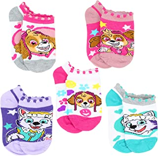 Nickelodeon Little Girls Paw Patrol 5-Pack No Show Ankle Socks