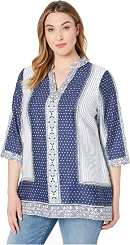 Plus Angelica Scarf Print Tunic