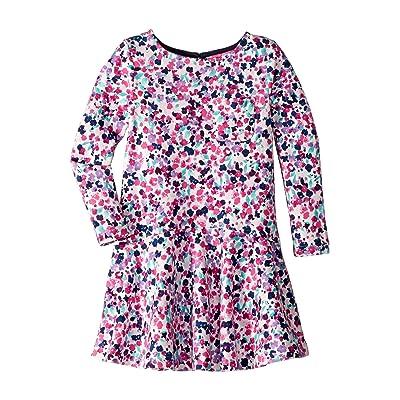 Joules Kids Mock Layer Dress (Toddler/Little Kids/Big Kids) (Cream Inky Ditsy) Girl