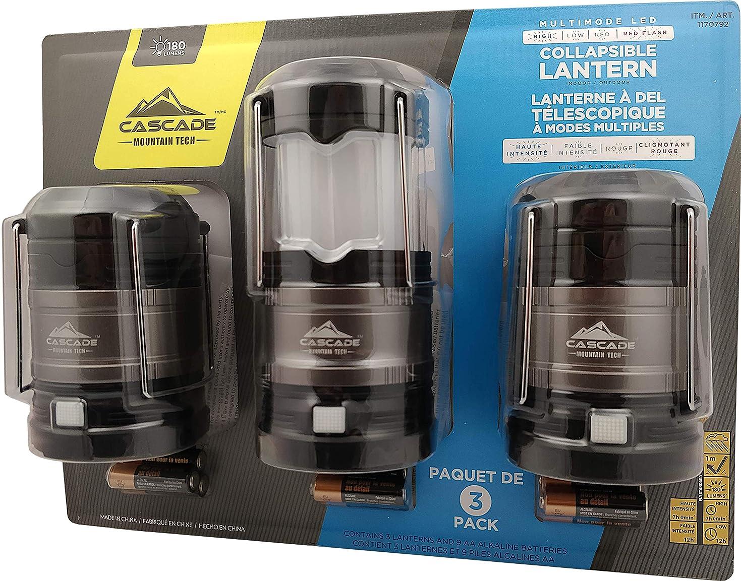 一般的な尋ねるミケランジェロカスケイド(Cascade) センサーライト 180ルーメン 3個セット LED ミニランタン