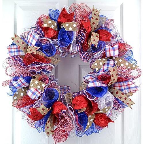 Deco Mesh Wreaths Amazon Com