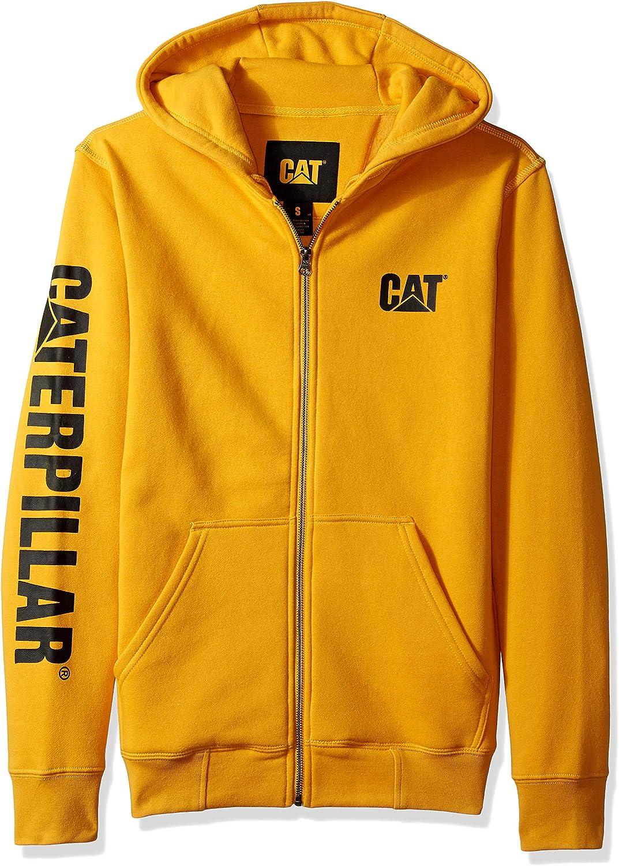 Caterpillar mens Full Zip Hooded Sweatshirt (Regular and Big & Tall Sizes)