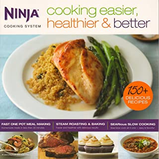 Ninja Cooking Easier, Healthier, & Better Cooking System 150 Recipe Book | CB700