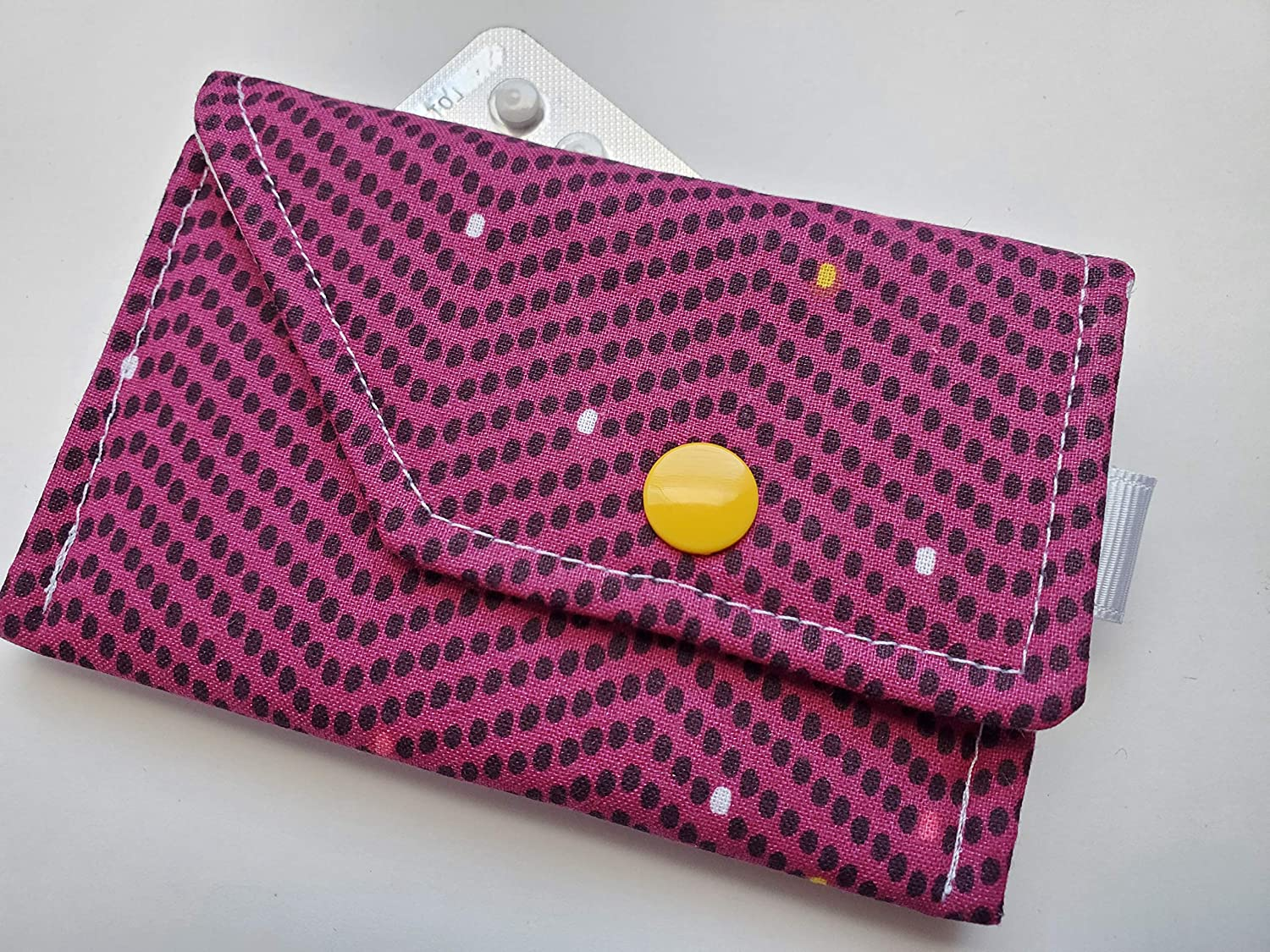 Birth Control Case Sleeve with Snap Direct store and Optional Closure Max 57% OFF Keychai