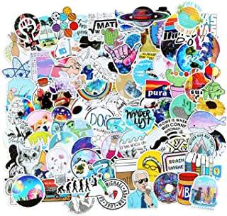 Laptop Stickers 100 Pcs Waterproof Vinyl Cute Cool Stickers for Laptop Skateboard Car Bicycle Luggage Motorcycle Graffiti Stickers Decal Patches