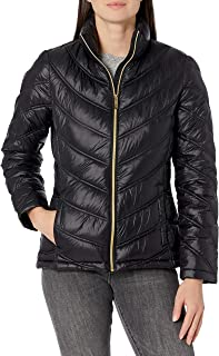 womens Lightweight Chevron Quilted Packable Down Jacket