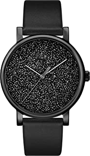 Women's TW2R95100 Crystal Opulence Black Leather Strap Watch