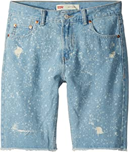 Levi's® Kids - 511 Slim Fit Destroyed Denim Cut Off Shorts (Big Kids)