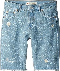 Levi's® Kids 511 Slim Fit Destroyed Denim Cut Off Shorts (Big Kids)
