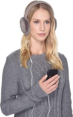 Cable Knit Water Resistant Sheepskin Earmuff with Tech Option